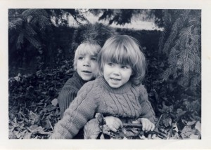 Abigail Garner and her brother, 1975